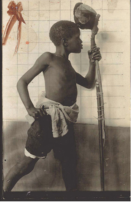 """Study for the British Empire Panels, 1925, silver gelatin print with pencil grid, 8 3/4 x 5 1/2"""""""