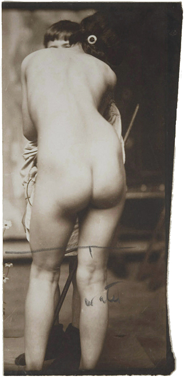 Frank Brangwyn, Study for The Girl and the Fawn, 1916, toned matte silver gelatin print