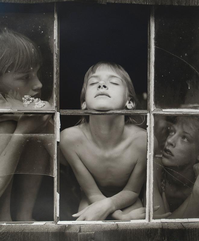 Christina, Misty Dawn and Alisa, Northern California, 1989, gelatin silver print