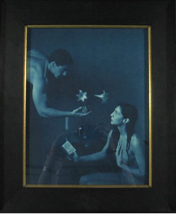 "Annunciation, 1997, Cyanotype, 14 x 11"", SOLD"