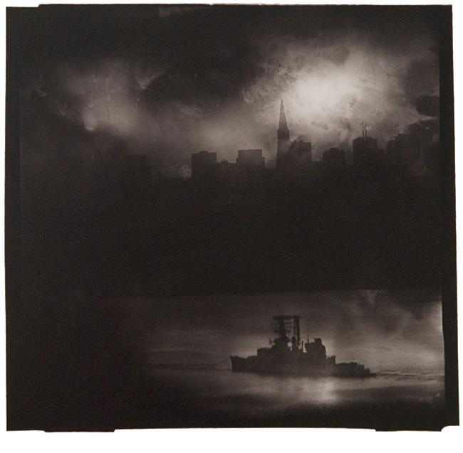 "San Francisco Sky, San Francisco, CA, 1995,toned gelatin silver print,9 1/8 x 9 1/2"", edition 12/25"