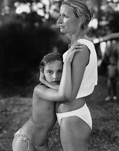 Julie and Her Mother, Montalivet, France, 1990, gelatin silver print