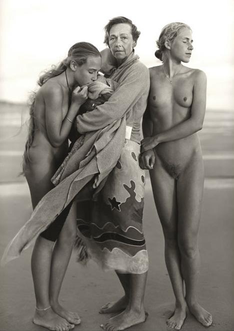 Lotte, Vera, and Nikki, Montalivet, France, 1999, gelatin silver print