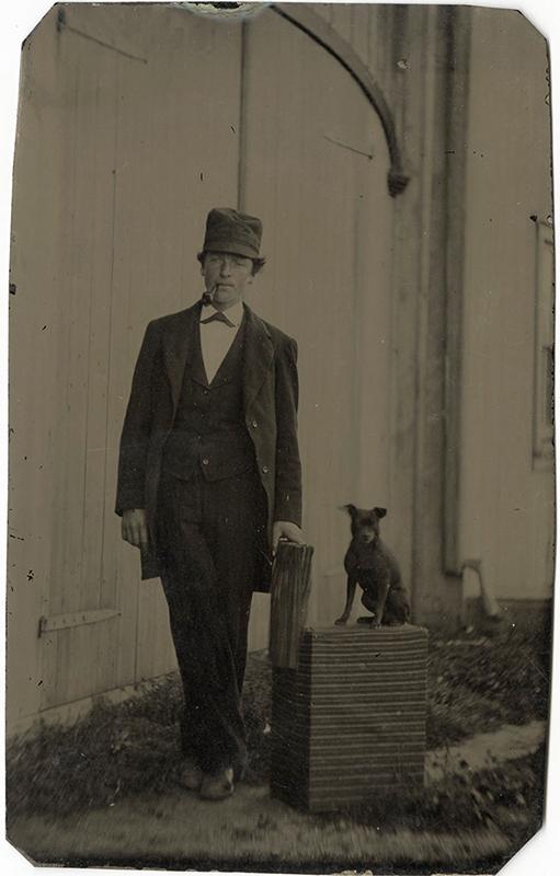 Man and Dog tintype