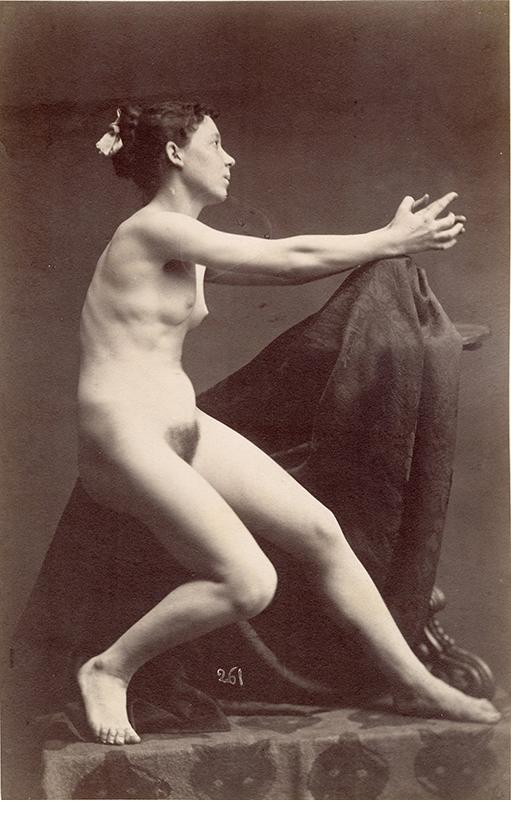"Gaudenzio Marconi, Female Nude, 1860's, Albumen print, 10 x 6 3/8"""
