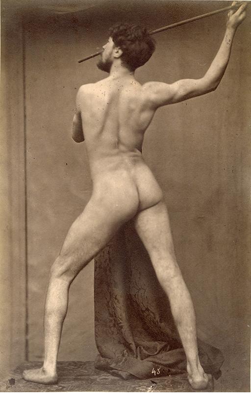 """Gaudenzio Marconi, Male Nude, 1860's, Albumen print, 10 1/4 x 6 5/8"""""""