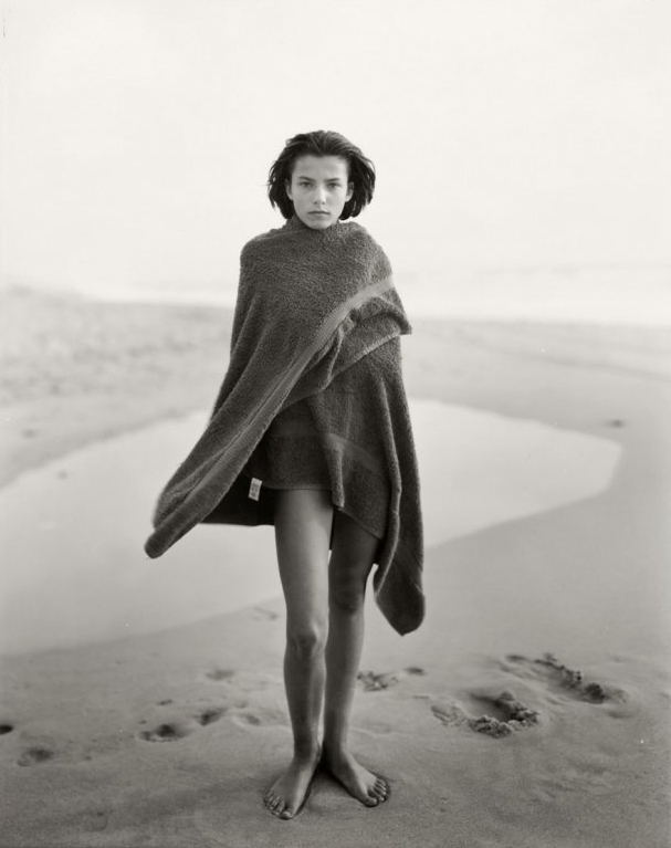 Marine with Towel, The Last Day of Summer #2, Montalivet, France, 1989, gelatin silver print