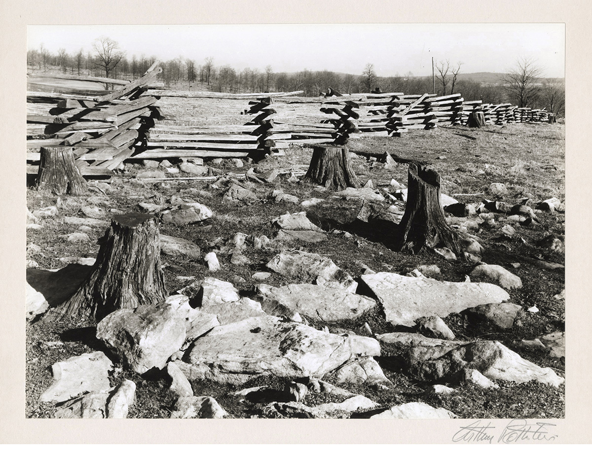 """Rail Fence, MD, 1935, vintage gelatin silver print, mounted and signed, 7 x 9 1/2"""""""