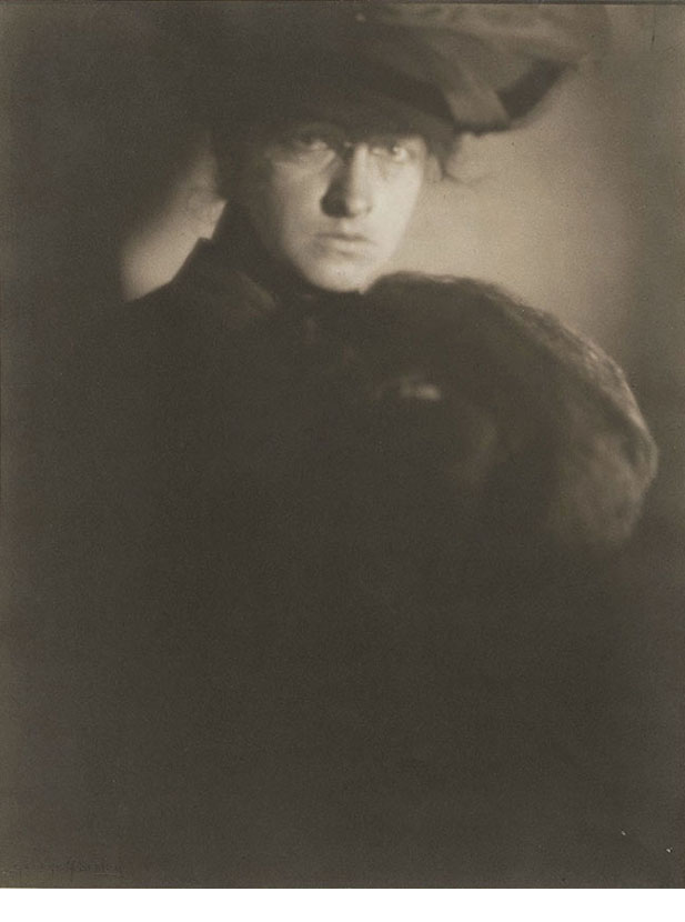 George Seeley, Untitled (Woman with hat and fur muff)