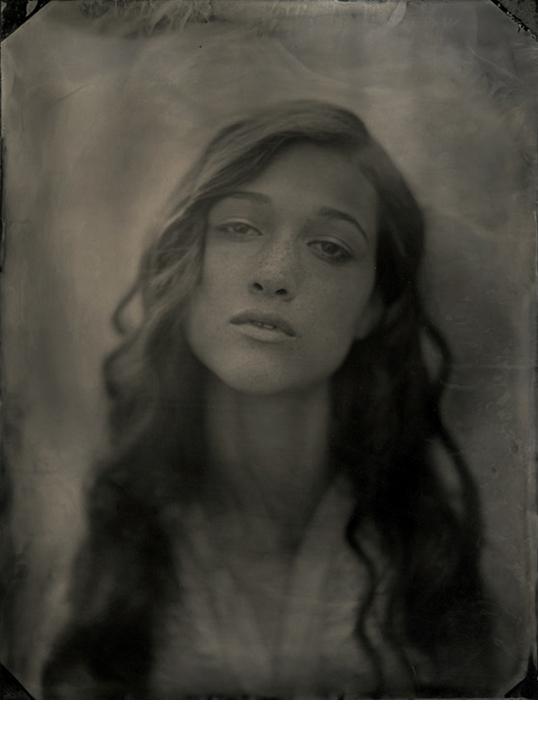 """Nicole, 2009, Unique collodion wet plate, 5 1/2 x 4 1/4"""""""
