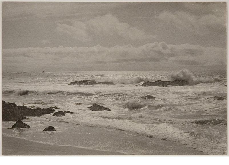 "Seascape, platinum print, c.1897 signed on recto in pencil, 4 1/4 x 6 1/4"""